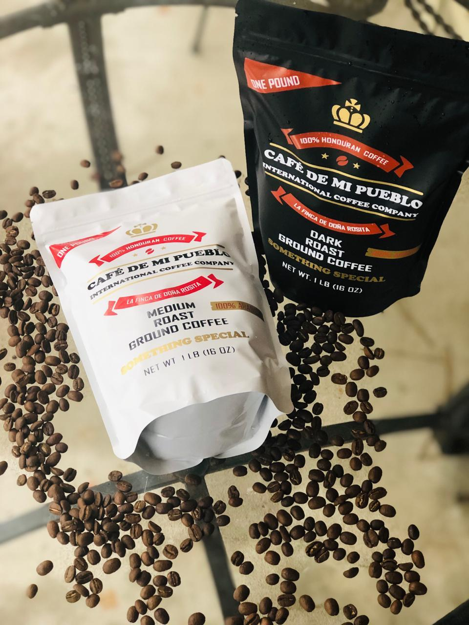 Coffee bags with coffee beans