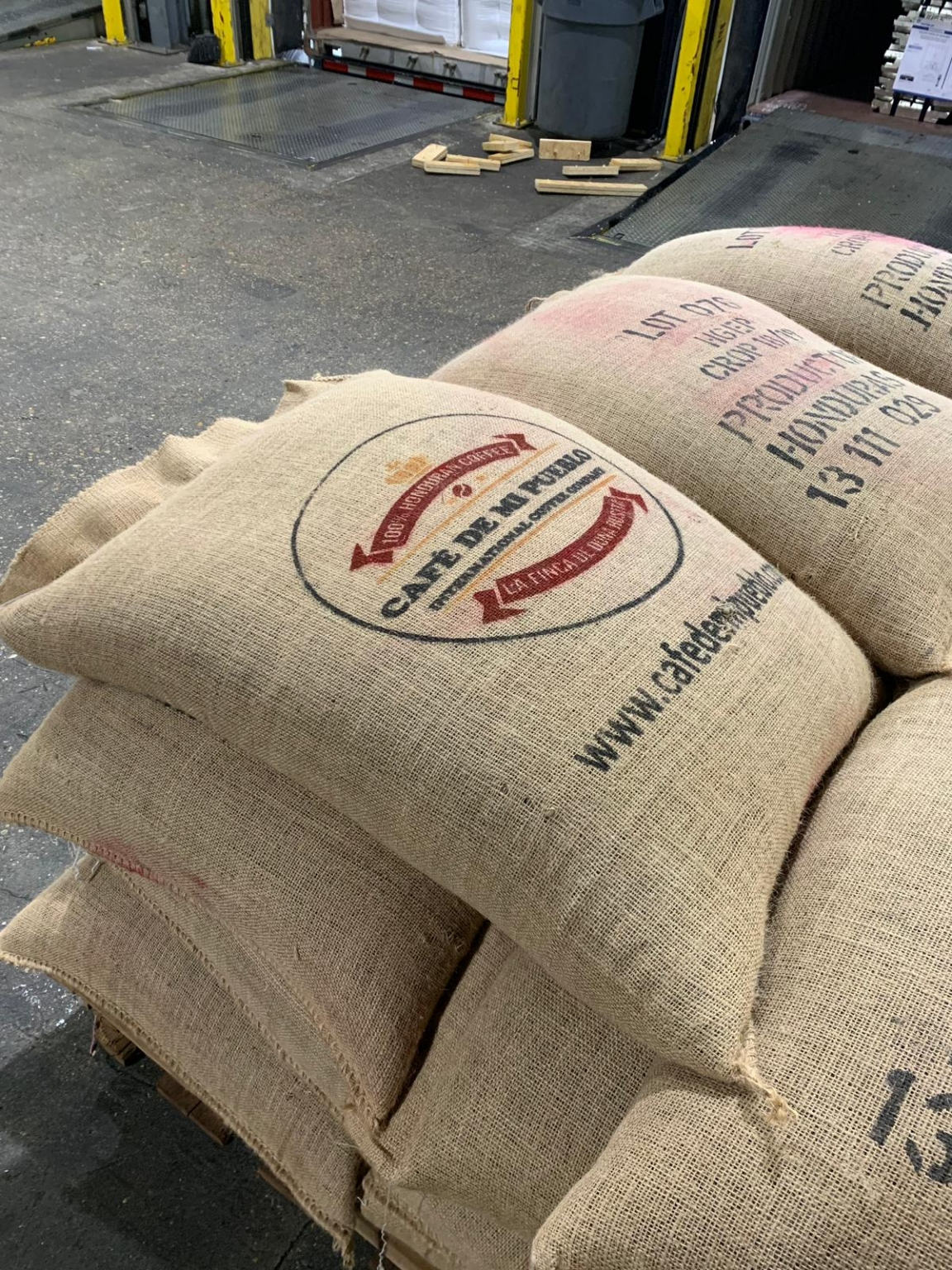 69-kilo coffee bags
