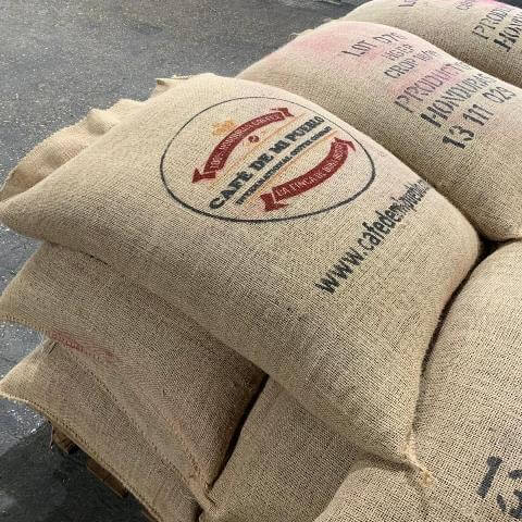 A 52kg bag of coffee beans